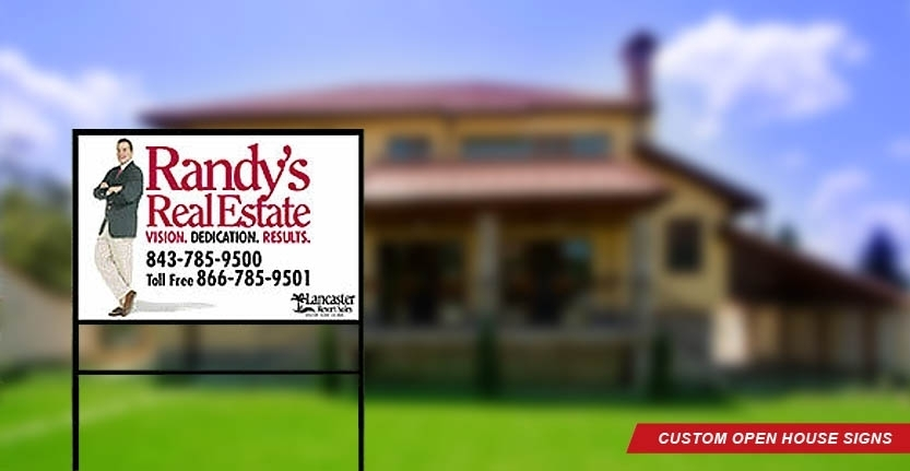 Randy's Real Estate Open House Sign