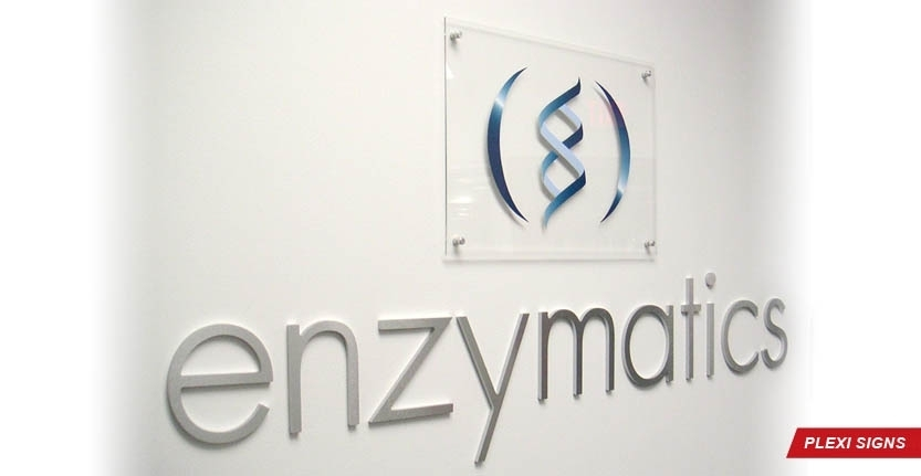Enzymatics Plexi Lobby Sign