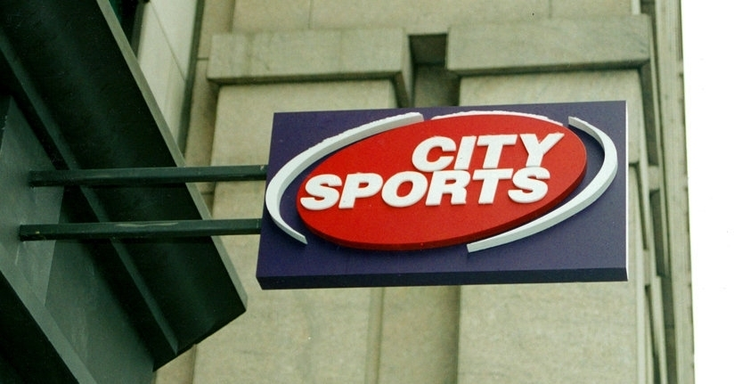 CIty Sports Storefront Projection Sign