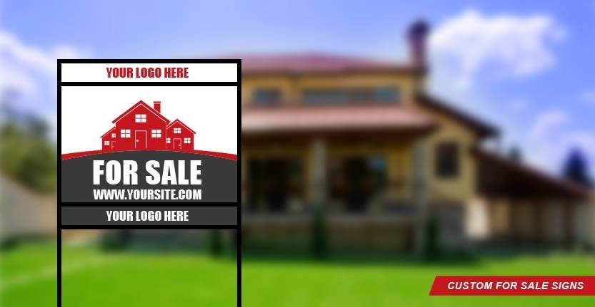 Real Estate Sign for Sale with Your Logo