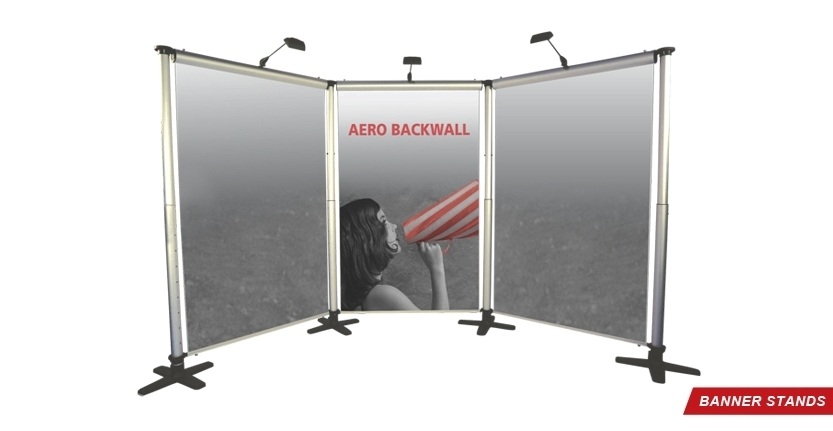 Aero Backwell Banner Stand for Trade Shows