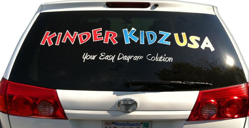 Vehicles Vinyl Lettering of Kinder Kidz USA