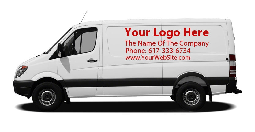 Vehicles Vinyl Lettering with Your Company Logo