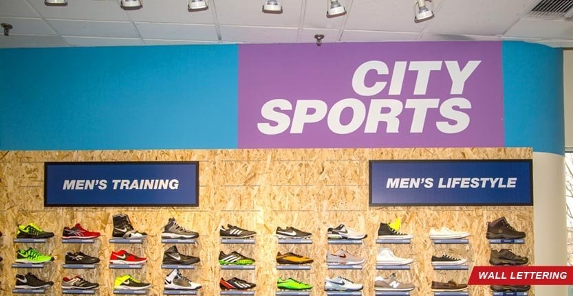 City Sports Lobby Wall Lettering