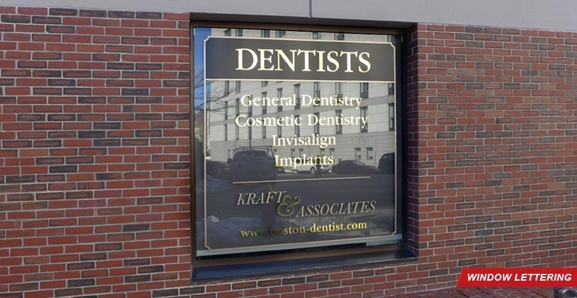 Dentists Window Lettering