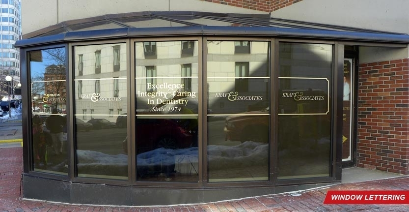 Kraft Associates Window Lettering
